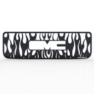 Grille Insert Guard Vertical Flame Black Powdercoat fits: 1994-1998 GMC C3500