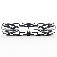 Grille Insert Guard Horizontal Flame Black Powdercoat fits: 2000-2006 GMC Yukon