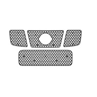 Grille Insert Guard Mesh Punch Black Powdercoat fits: 2004-2007 Nissan Titan