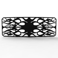 Grille Insert Guard Horizontal Flame Black Powdercoat fits: 2011-2014 Ford Superduty