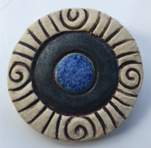 Celtic Ring Brooch  - Blue