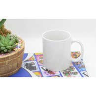 3-Pack Premium White Ceramic Mugs, Coffee Mugs, Pre-coated for Sublimation