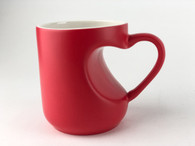 2-Piece Heart Shape Mug Set, Color Changing Coffee Mugs, Blank, Pre-coated and Ready for Sublimation