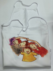 2-Pack White Aprons, Empty, Pre-coated and Ready for Sublimation
