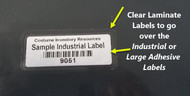 Clear Laminate Adhesive Labels  (Pkg of 50 Labels)
