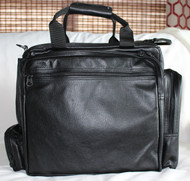 9f106532a30 Ultimate Flight Bag shown in black leather