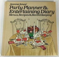 Jeanne Jones Party Planner and Entertaining Diary 1979