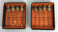Vintage Cocktail Appetizer Hors d'Oeuvre Picks Mouse boxes