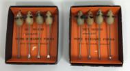 Vintage Cocktail Appetizer Hors d'Oeuvre Picks Mouse boxes
