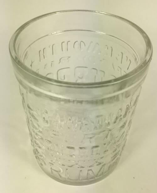 Vintage bar glass liquors rum bourbon top