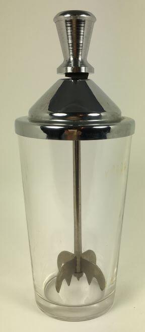 Vintage Bar Glass Mixer with Muddler
