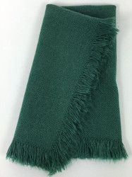 Vintage Napkins Forest Green with Fringe Set of 6