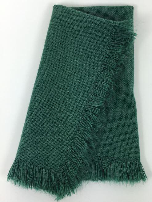 Vintage Napkins Forest Green with Fringe Set of 6