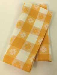 Vintage Napkins Yellow Picnic Plaid Set of 4