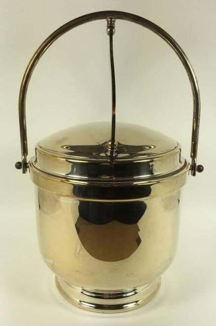 Vintage Silverplate Ice Bucket Hinged Lid