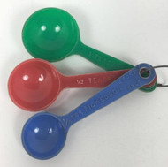 Vintage Colored Teaspoon Measuring Spoon Set Blue Red Green