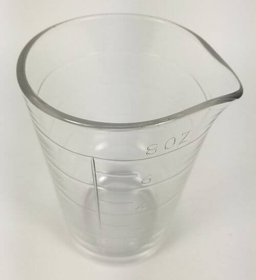 Vintage Glass Measuring Cup Beaker 8 oz