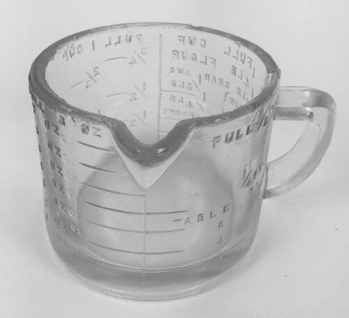Vintage Glass Dry Measuring Cup Flour Sug Tea