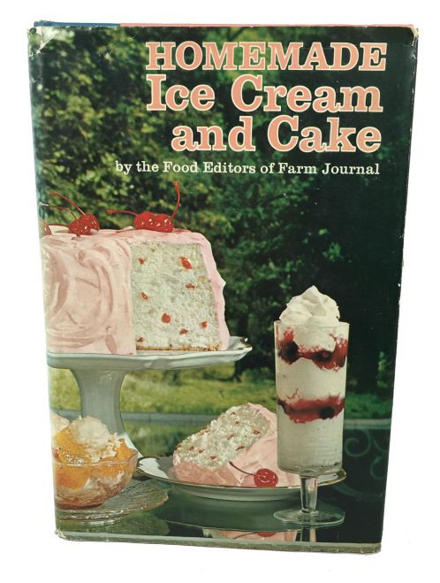 Vintage Homemade Ice Cream and Cake Cookbook 1972