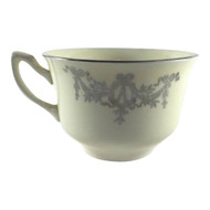 Vintage Tea Cup WS George Lido Canarytone Platinum Swags Floral
