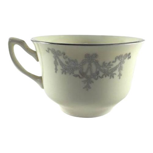 Vintage Tea Cup WS George Lido Canarytone Platinum Swags Floral