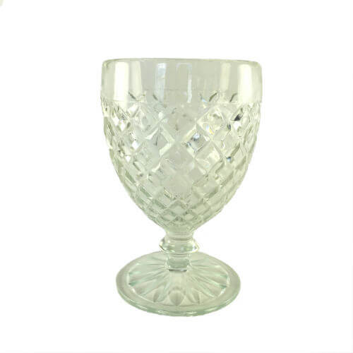 Vintage Depression Glass Waterford Clear Anchor Hocking Water Wine Goblets