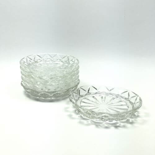 Vintage Coasters Depression Glass Waterford Clear Anchor Hocking
