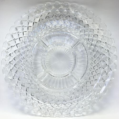 Vintage 6 part Relish Tray Depression Glass Waterford Clear Anchor Hocking