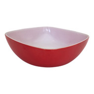 Vintage Pyrex Red Square Hostess Bowl 515B