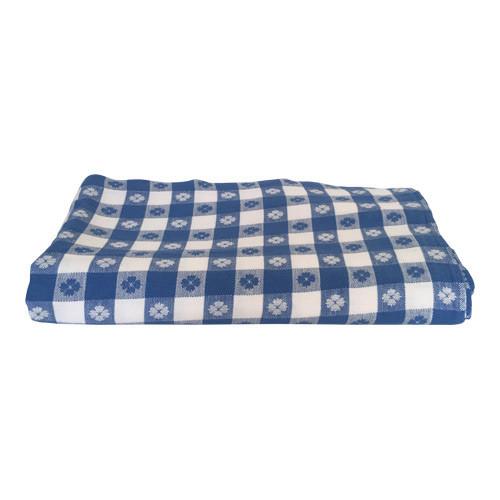 Blue Picnic Plaid Tablecloth 55x65 Vintage Grace