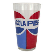 Vintage Pepsi-Cola Logo Red White Blue Glass Tumbler