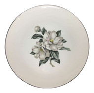Vintage Homer Laughlin White Magnolia Rhythm Dinner Plate