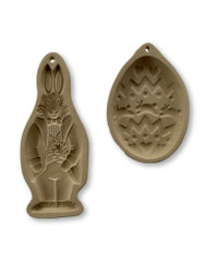 Vintage Easter Brown Bag Cookie Molds, Bunny and Egg, 1988