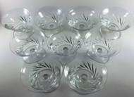 Baccarat Beauchene Short Stem Champagne Sherbet Glass Set of 9