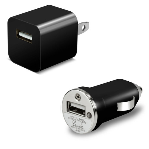 USB Wall and Car Charger Pack