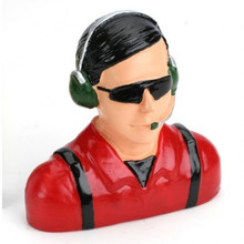 Hangar 9 1/4 Pilot - Civilian w/ Headets, Mic & Sunglasses (RED)