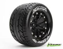 MT-Rocket Tyre On Black Rim 1/2 Offset 12mm hex