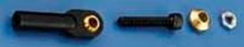 DUBRO 2161 4-40 SWIVEL BALL LINK W/HARDWRE (2 PCS PER PACK) (BLACK)