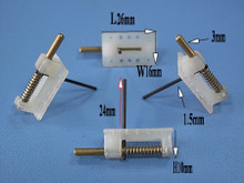 HY PLASTIC CANOPY LOCK 26 x 16 x 10mm with 3mm BRASS SHAFT & 1.5mm STEEL HANDLE (2PK)