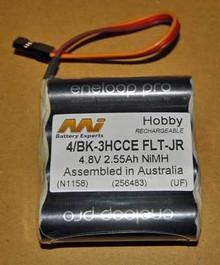 2550 MAH AA FLAT PACK  4/BK-3HCCE FLT JR 4.8V 2.55AH NIMH