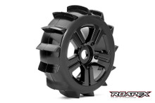 PAIR PADDLE 1/8 BUGGY TIRE BLACK WHEEL WITH 17MM HEX MOUNTED