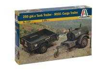 Italeri 1/35 250 Galon Tank Trailer + M101 Cargo Trailer
