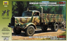 ZVEZDA 3596 1/35 GERMAN HEAVY TRUCK L4500A PLASTIC MODEL KIT