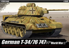 ACADEMY 13502 1/35 GERMAN T-34/76 747 (R) PLASTIC MODEL KIT
