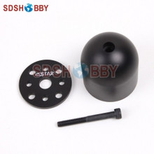 DOMED BLACK 1.75in/45mm Aluminum Alloy Spinner for DLE30/55, DA50/EVO54, MLD35/70
