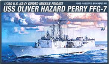 ACADEMY 14102 1/350 USS OLIVER HAZARD PERRY FFG-7 PLASTIC MODEL KIT *AUS DECALS*
