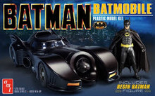 AMT 1107M 1/25 BATMAN 1989 BATMOBILE W/RESIN BATMAN FIGURE PLASTIC MODEL KIT