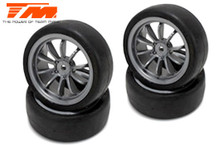 1/10 Touring mounted rubber (4pce SIL) 3334FS