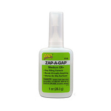 ADHESIVE,ZAP-A-GAP CA+ 1oz (GREEN)