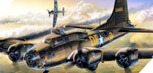 """ACADEMY 12495 1/72 B-17F """"MEMPHIS BELLE"""" FLYING FORTRESS PLASTIC MODEL KIT"""